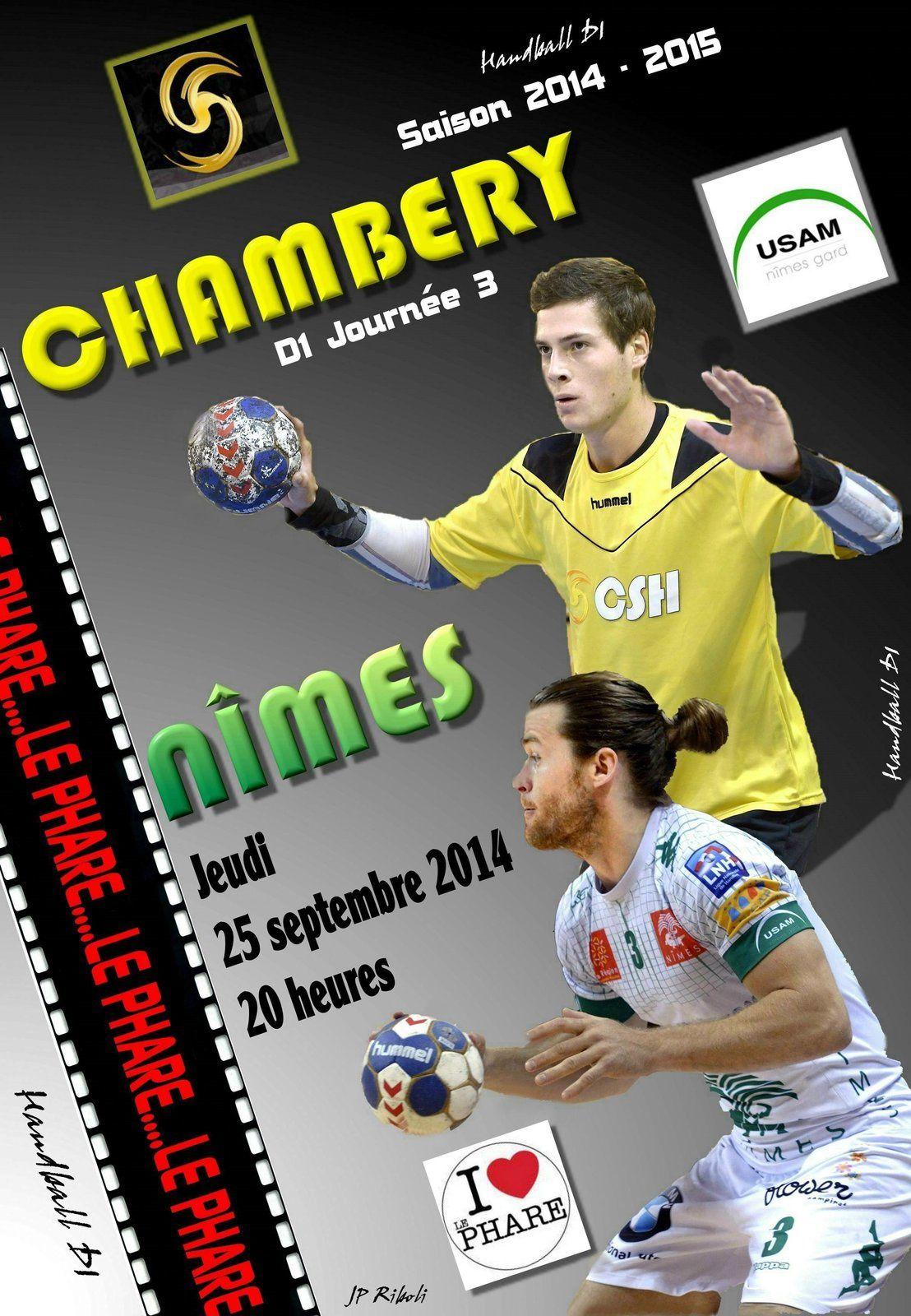 Premier match au phare CHAMBERY NÎMES jeudi 25 09 à 20 heures