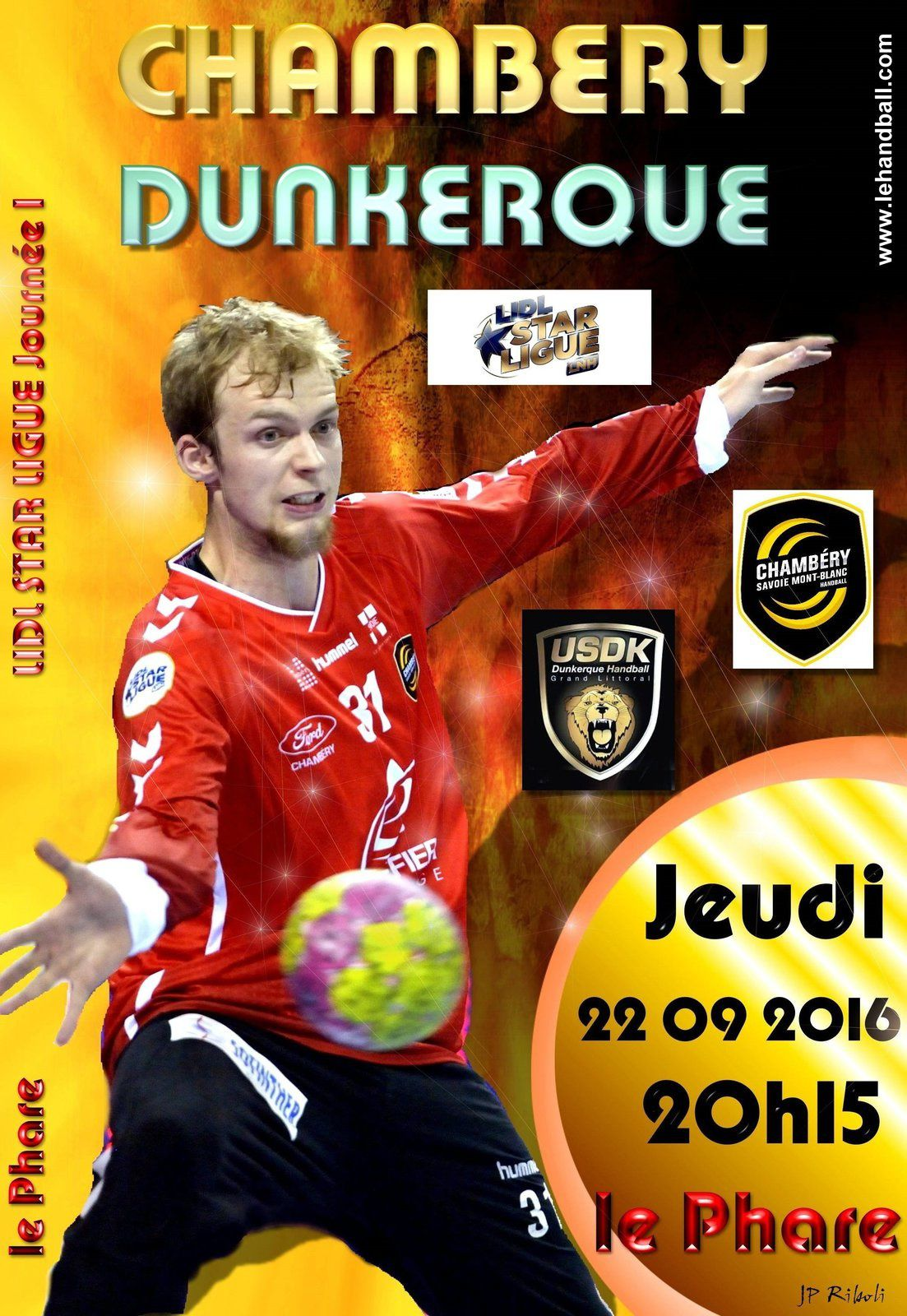 D1 CHAMBERY - DUNKERQUE jeudi 22 septembre 2016