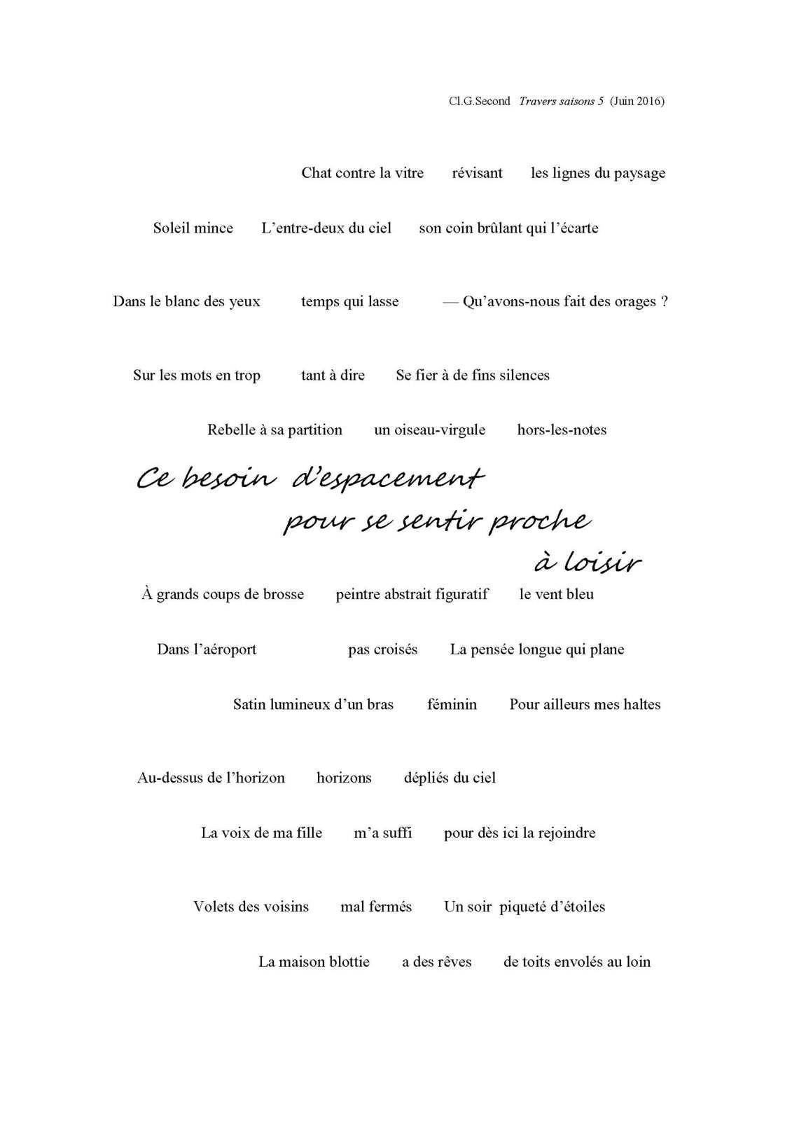 LE CAPITAL DES MOTS - CLÉMENT G.SECOND