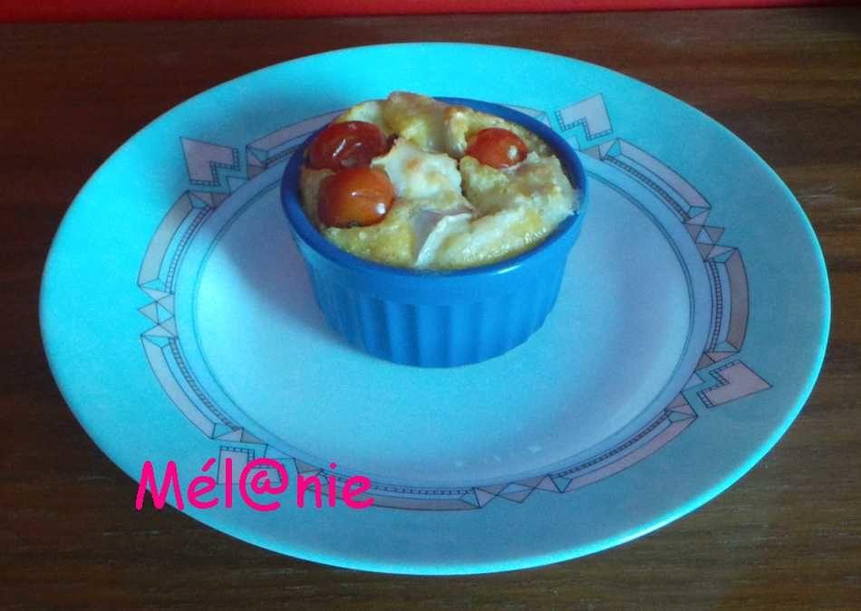 clafoutis aux tomates cerises et chèvre