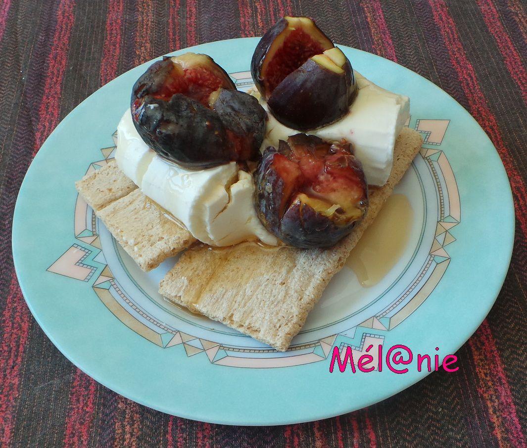 tartine de figues rôties au sirop d'érable