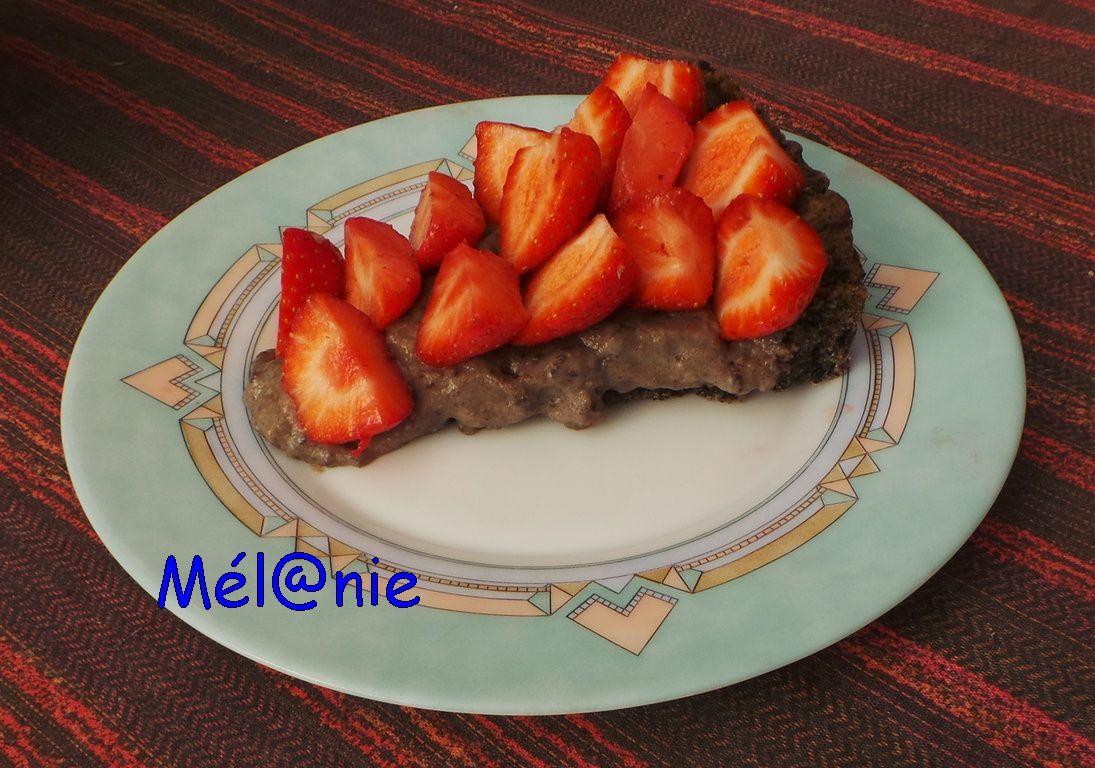 Tarte aux fraises aux double oréo