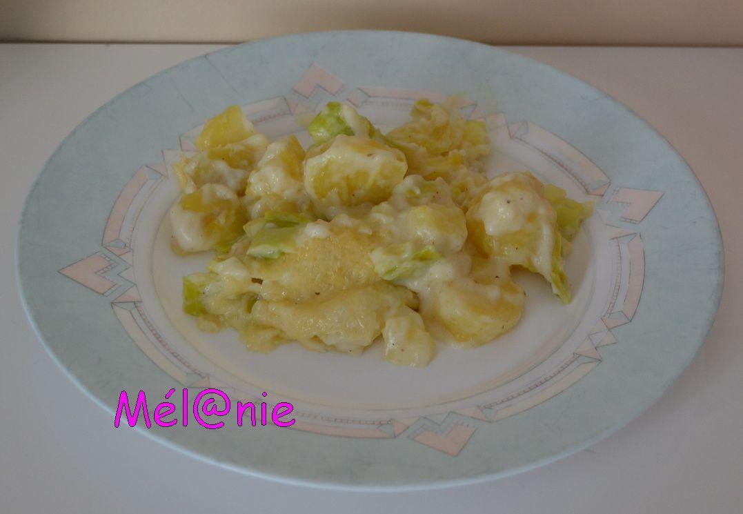 gratin pomme de terre poireaux