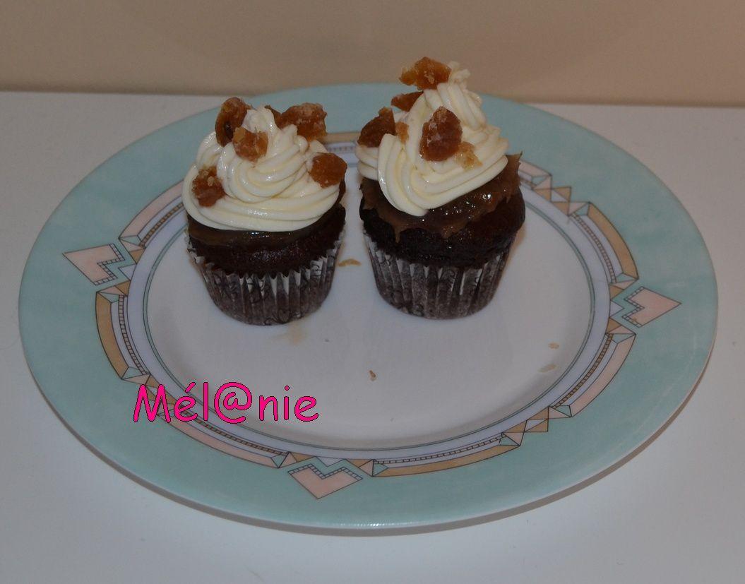 Cupcakes crème de marron et marrons glacés