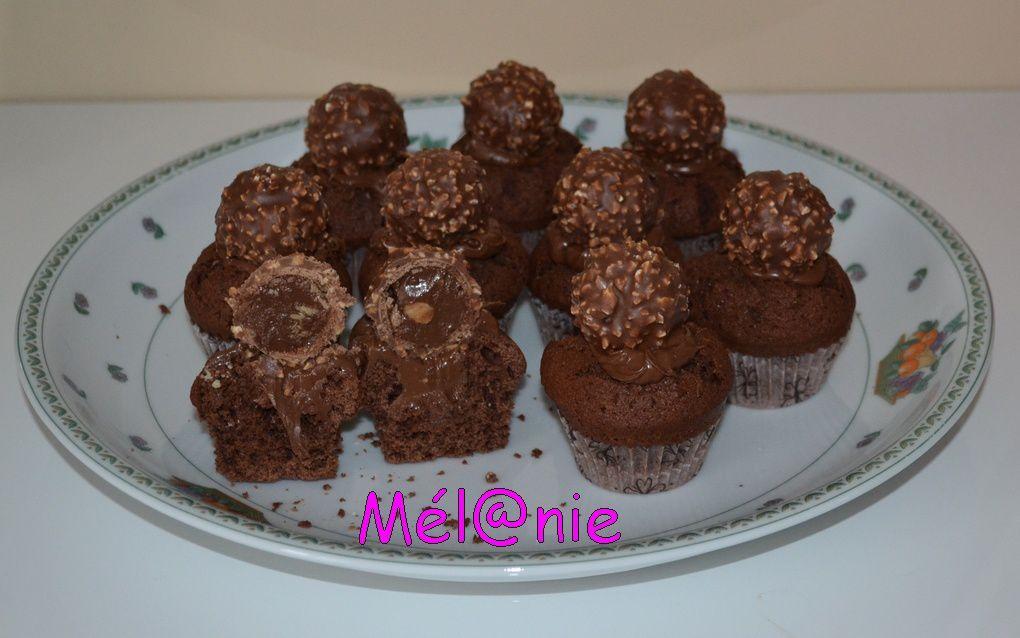cupcakes nutella avec ferrerro rocher