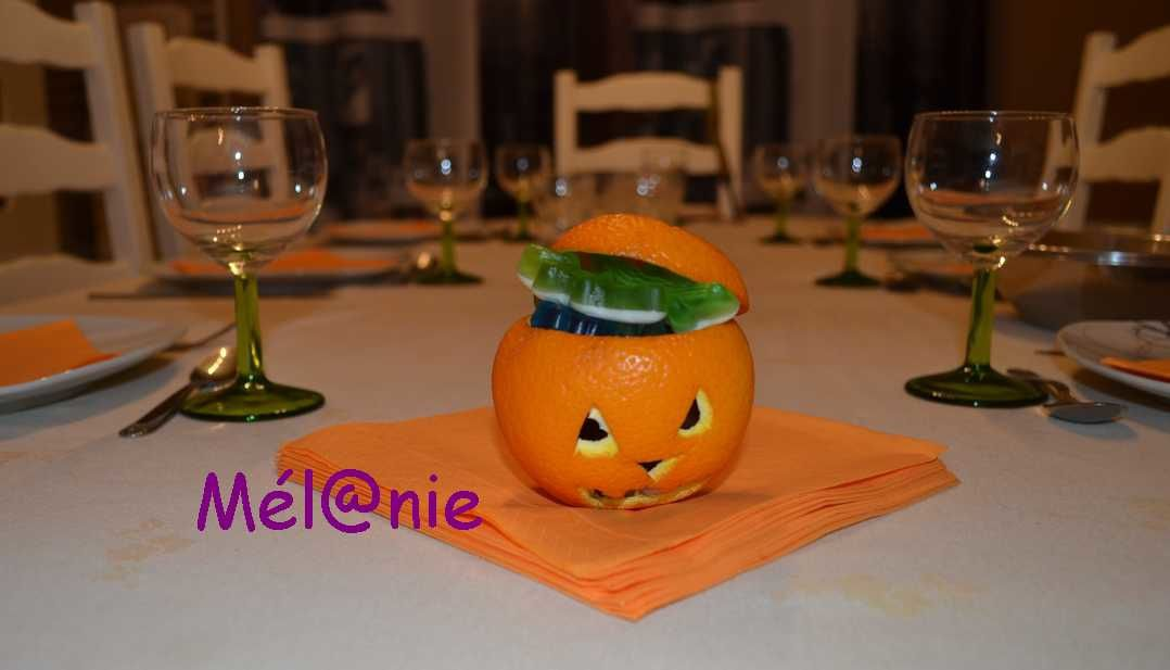 Décoration halloween - orange citrouillée - (tuto)