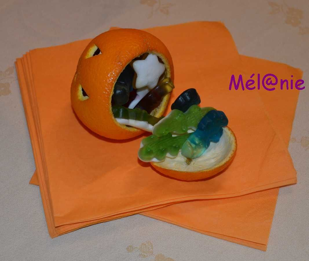 D coration halloween orange citrouill e tuto le blog de chezmel - Tuto deco halloween ...