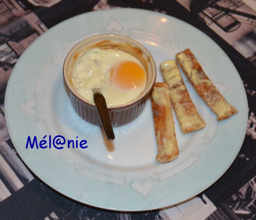 oeuf cocotte ail et fines herbes