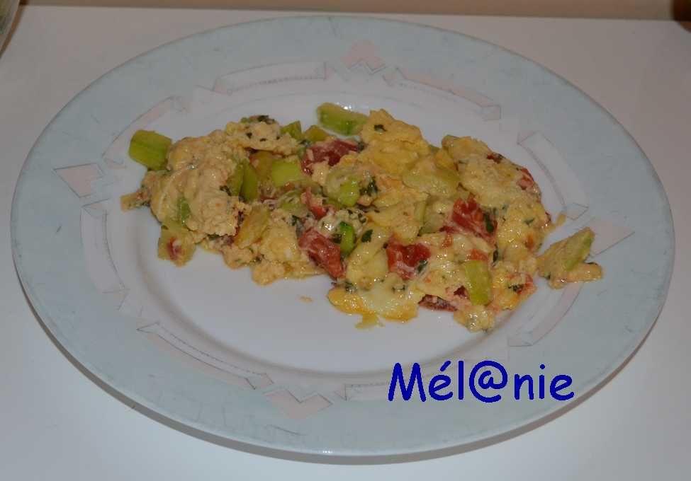 tortillas courgettes et tomates
