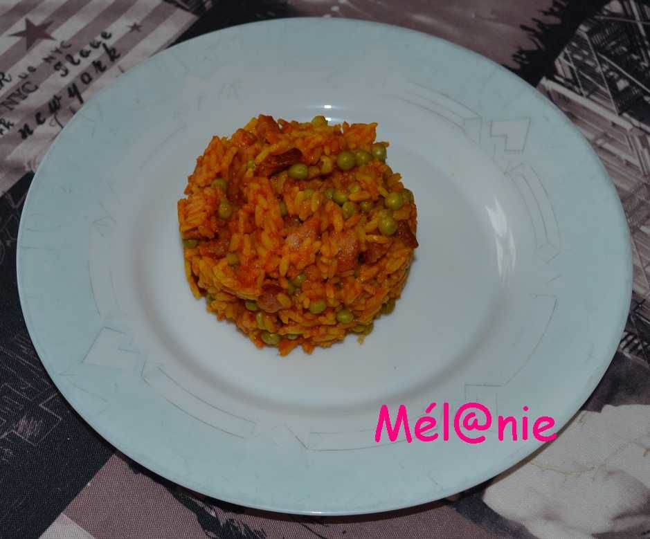 riz orange d'halloween