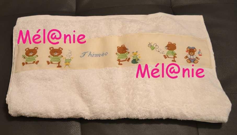 une autre serviette ... cette fois pour une naissance