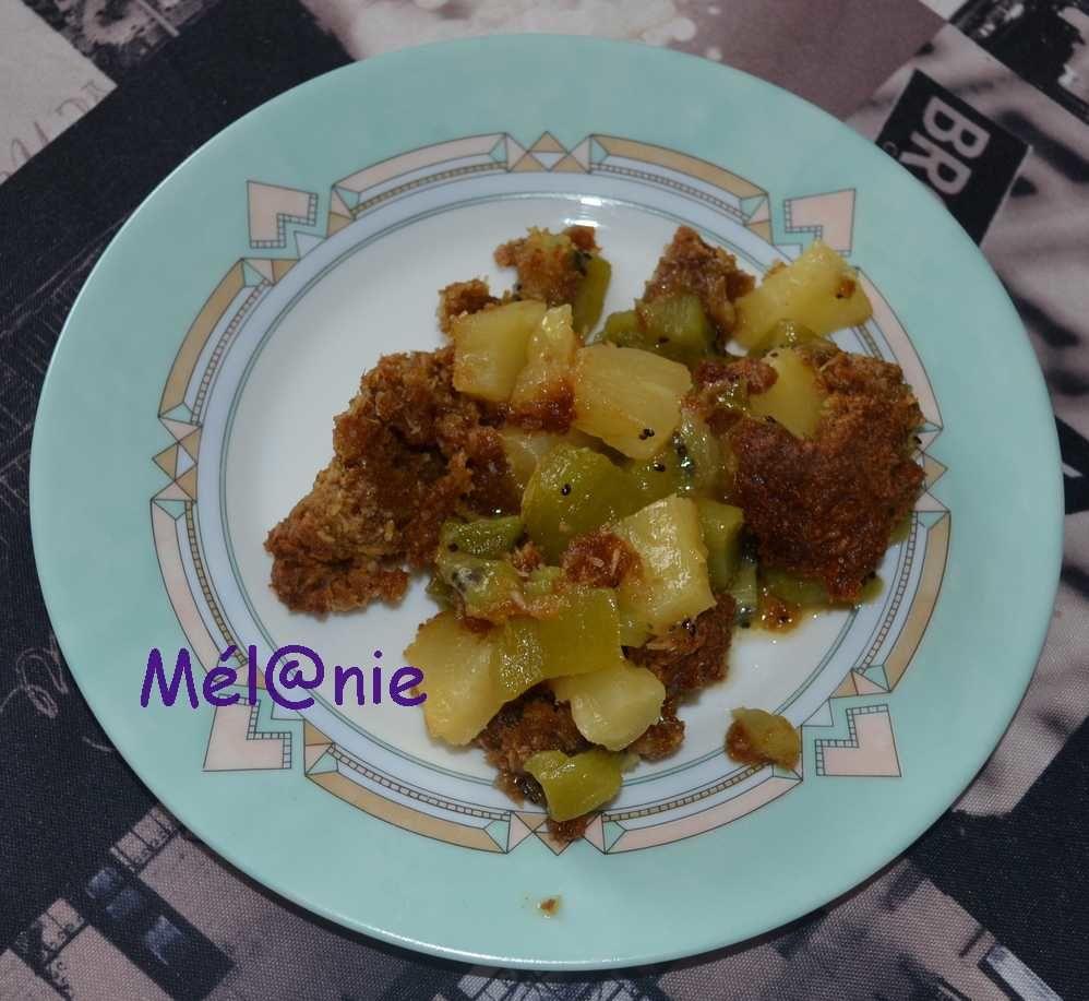 crumble exotique kiwi et ananas