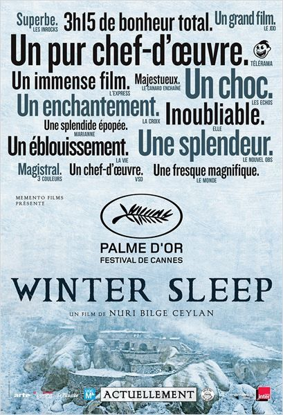 Winter Sleep. Palme d'or 2014. Les méandres de l'âme humaine.