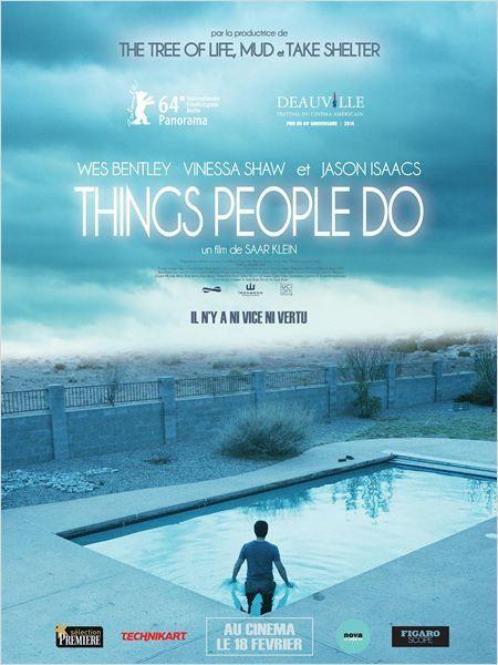 THINGS PEOPLE DO (Les choses que les gens font)