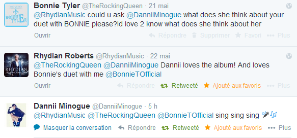 Dannii Minogue loves Miserere by Bonnie Tyler &amp&#x3B; Rhydian