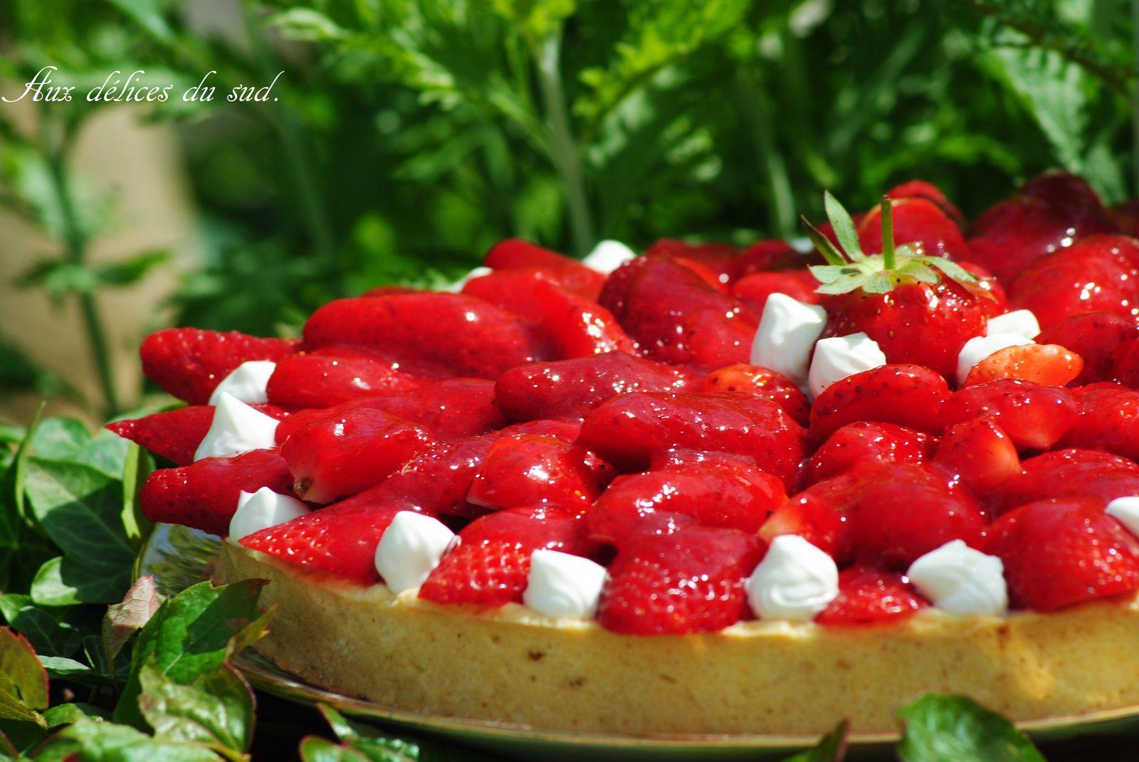 Tarte aux fraises .