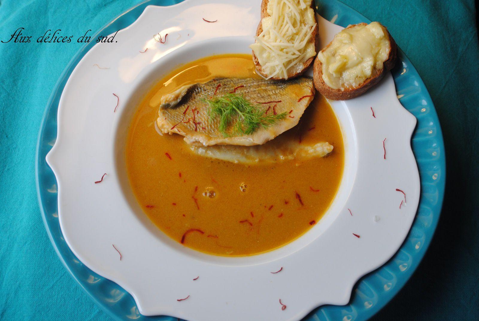 Soupe de poissons au safran (dorades ).