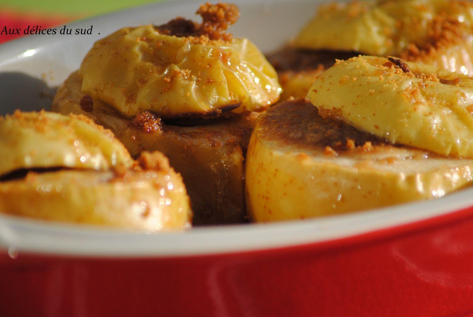 Pommes au four à la pâte au spéculoos .