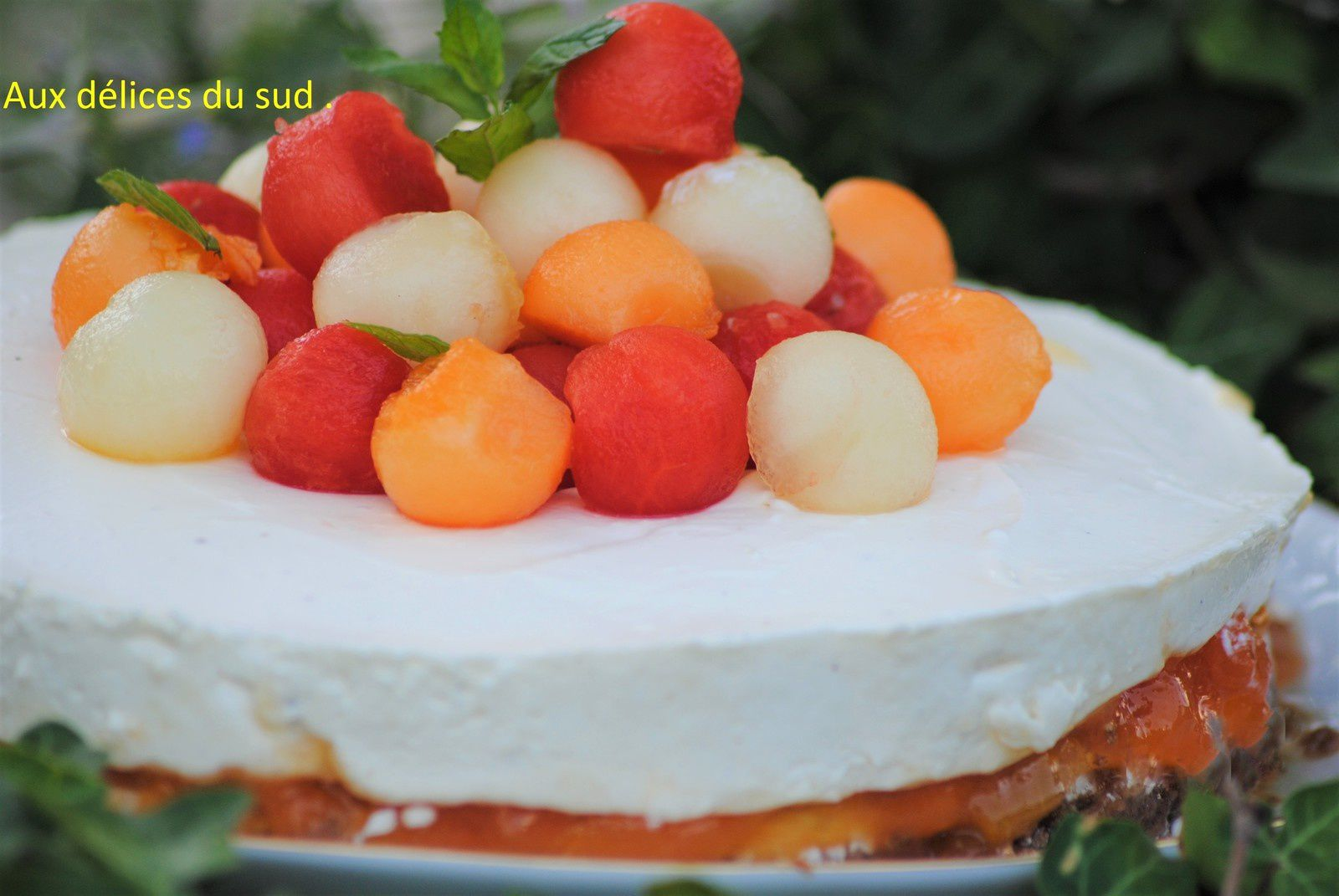 Cheesecake au melon .