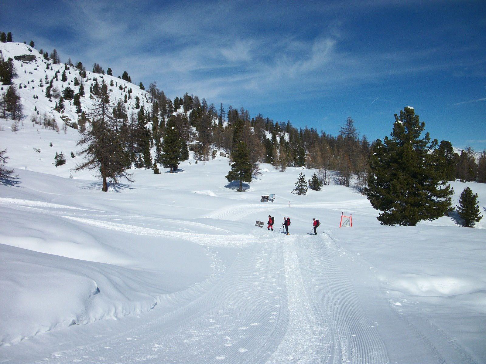 montée vers les crètes, passage au col Bousson (2154m) avec vue sur le Pic de Rochebrune (3320m) et redescente vers le refuge Mautino