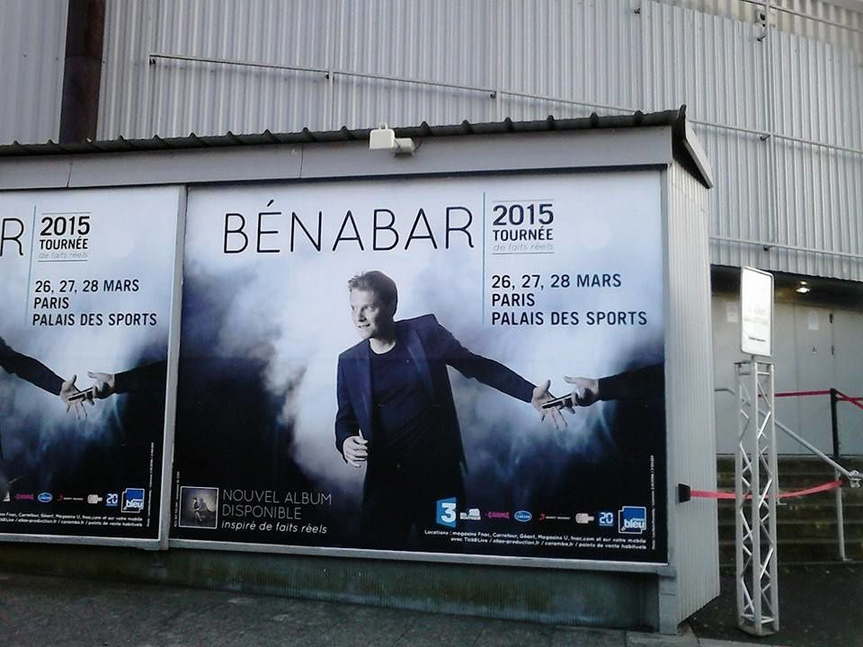 BENABAR AU PALAIS DES SPORTS DE PARIS