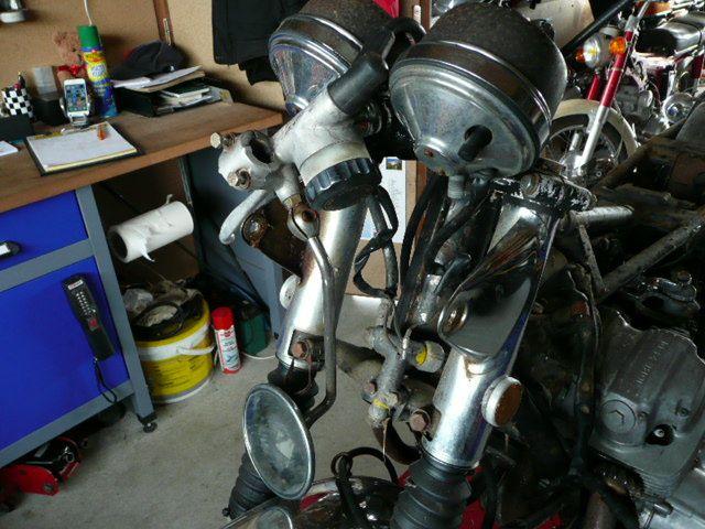 Arrivée de Corse pour restauration : Honda Cb 750