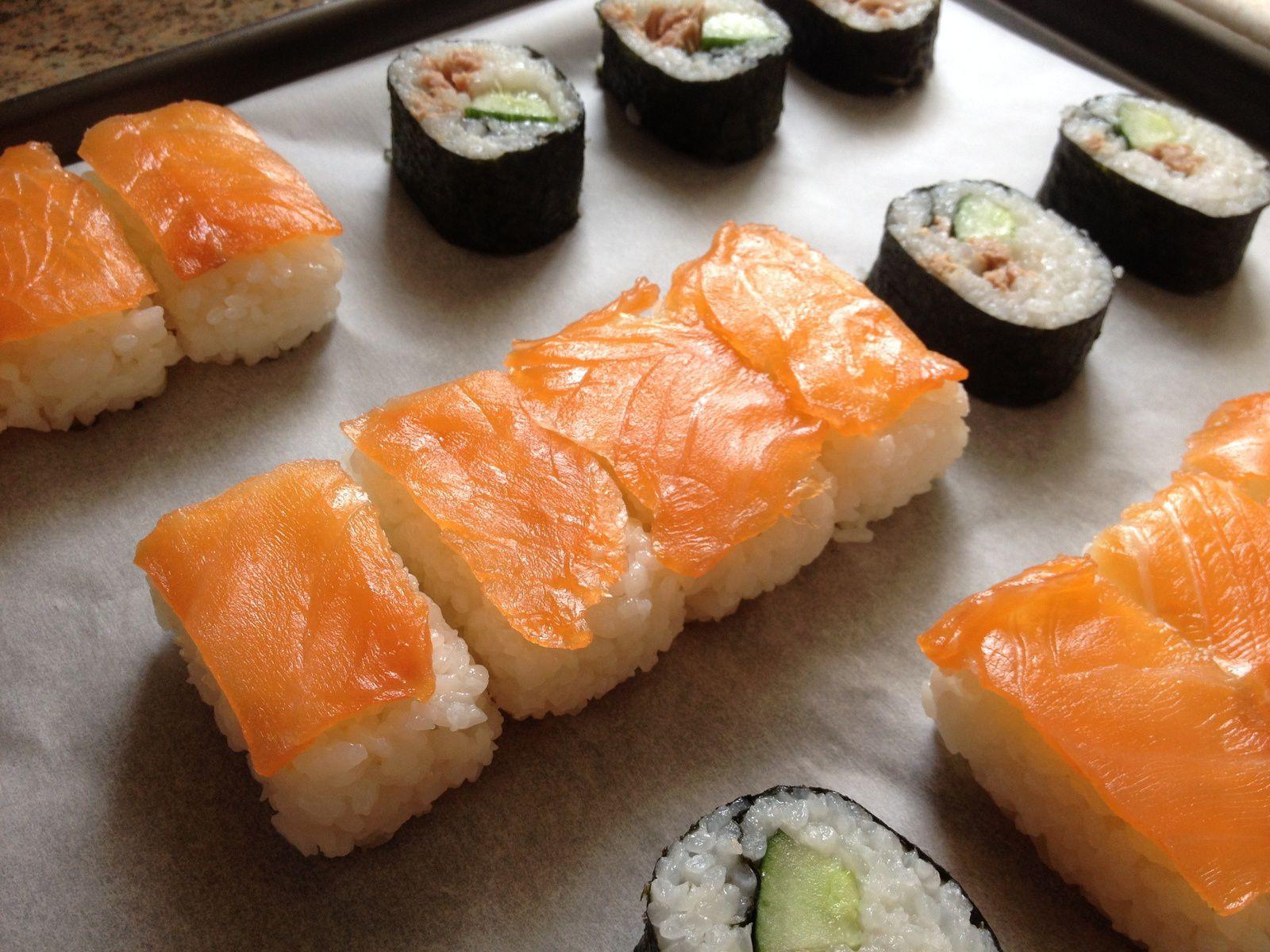 Sushis maison (nigiri-sushis et Maki-sushis)