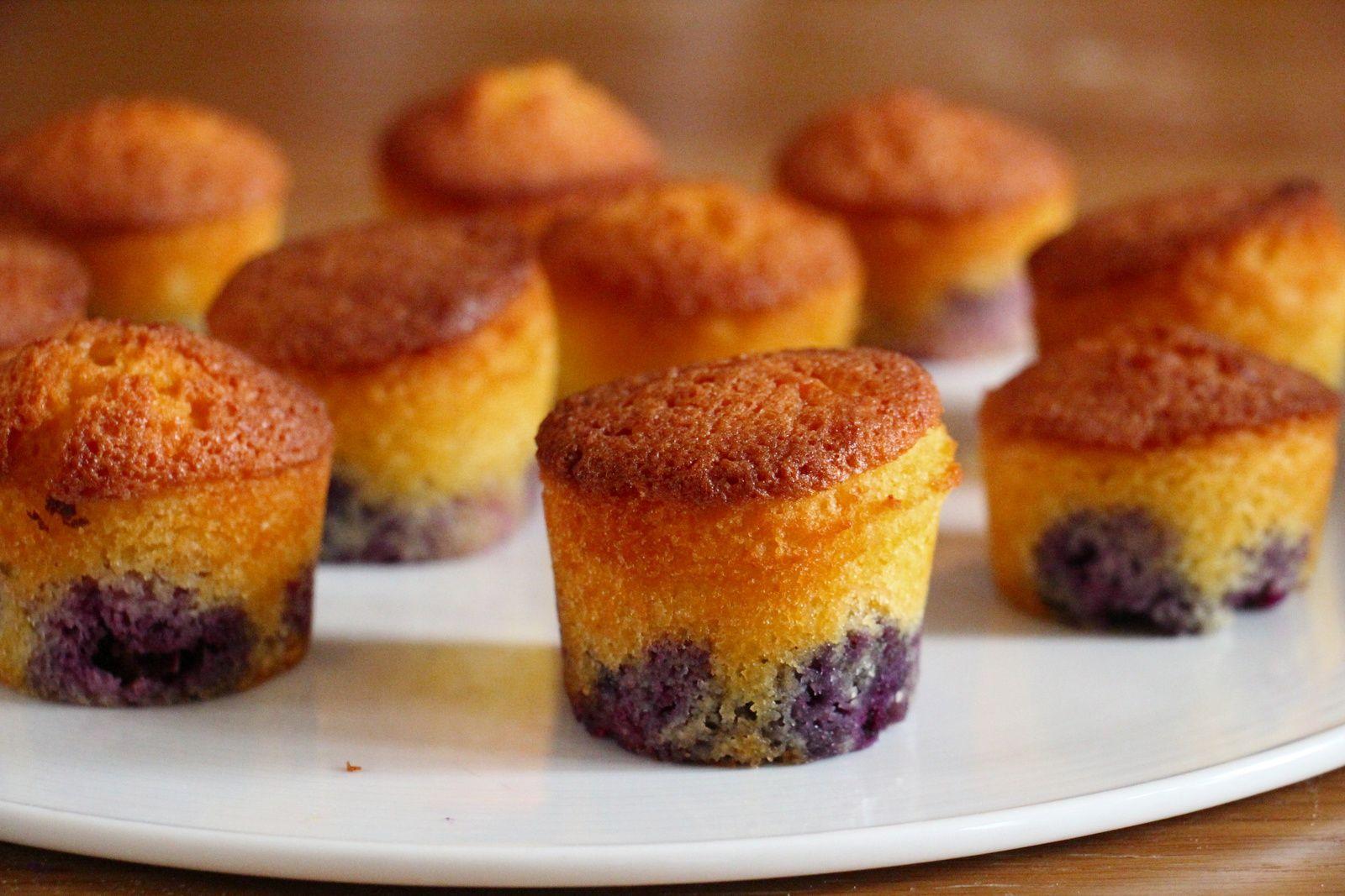 Mini -cake aux myrtilles