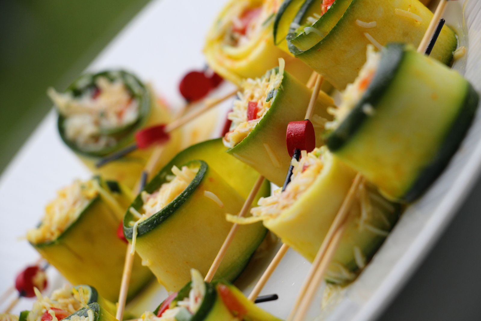 Cannelonis de courgette au  crabe , curry et citron