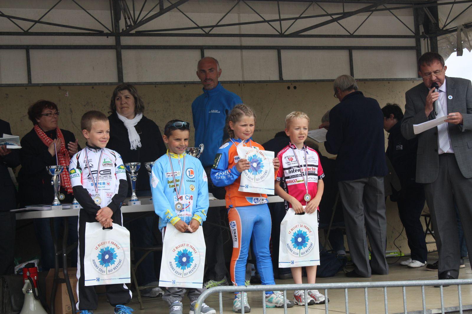 Le  podium  Poussins
