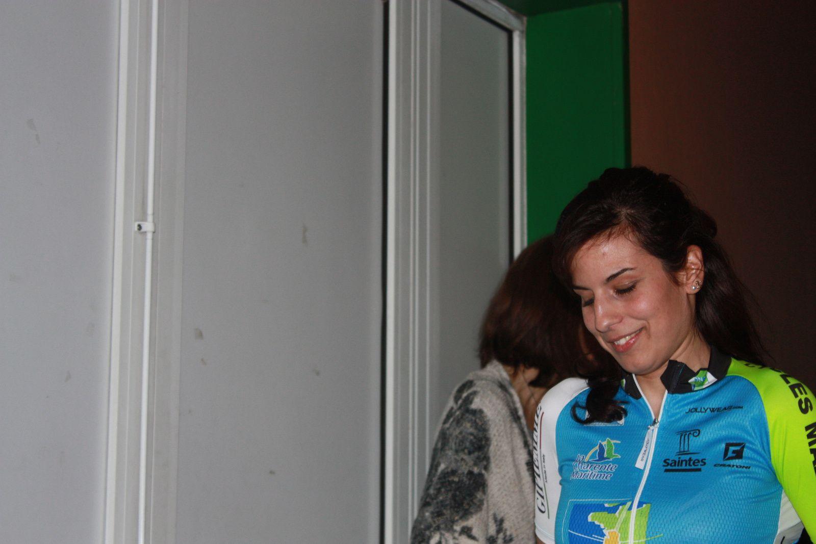 Steffi  JAMONEAU  nouvelle  venue, elle  avait  remporté  une  étape  du  tour  de  charente-maritime  à  Lagord