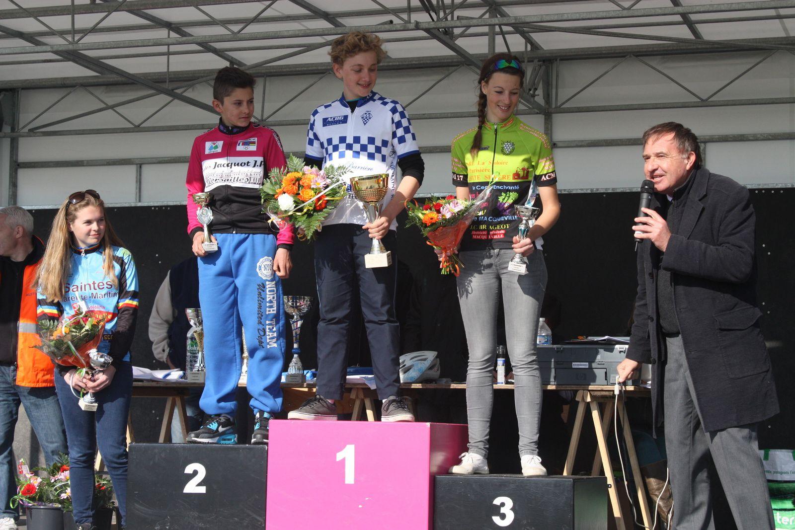Le  podium  avec  Alexandre  DURAND , neveu  du  consultant  d'eurosport, Kévin  MONLEZUN  1er  année  et  les  2  filles  Gwendoline  POUVREAULT  et  Isaline  CHAUVET.
