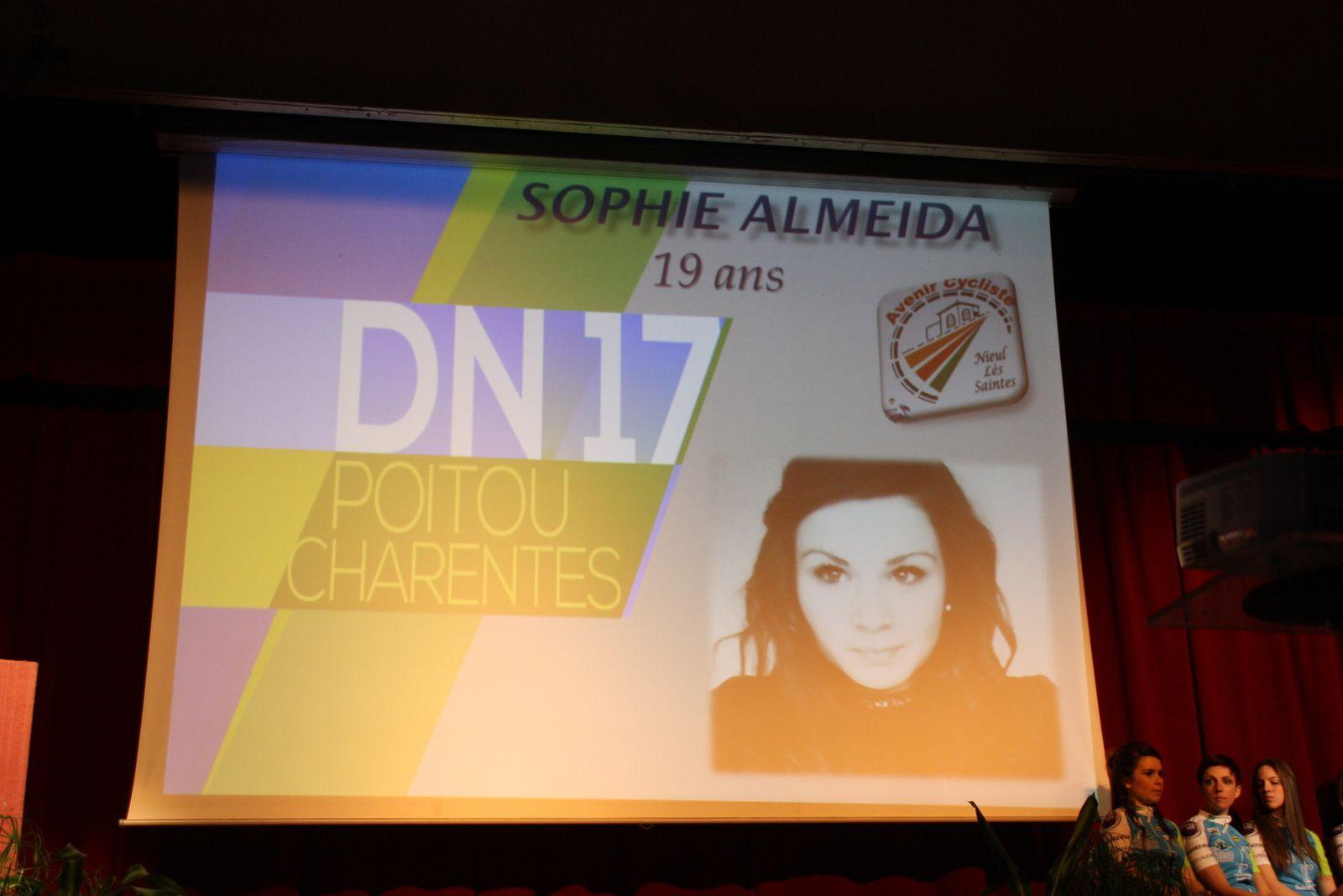Sophie  ALMEIDA  pour  l'AC  Nieul les Saintes