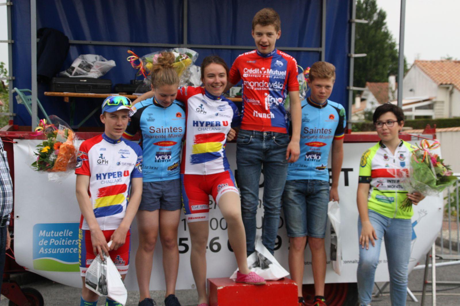 Le  podium  complet