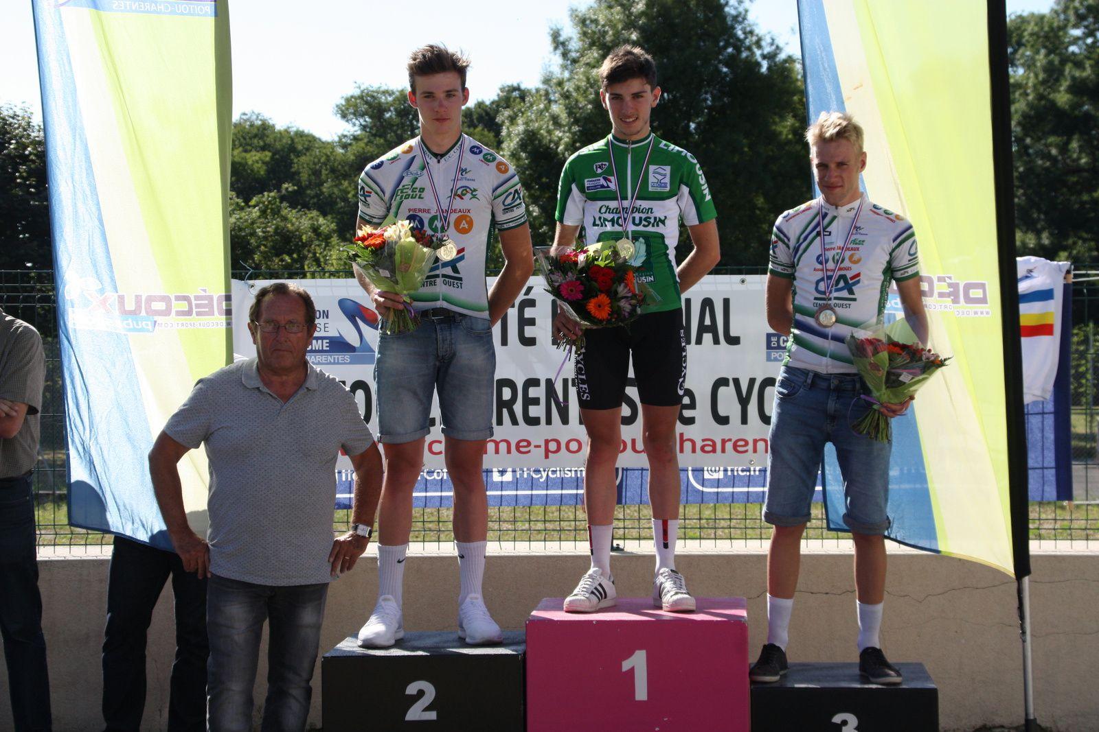 Le  podium  du  Championnat  du  Limousin