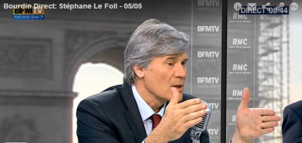 Stéphane Le Foll, porte-parole de combat