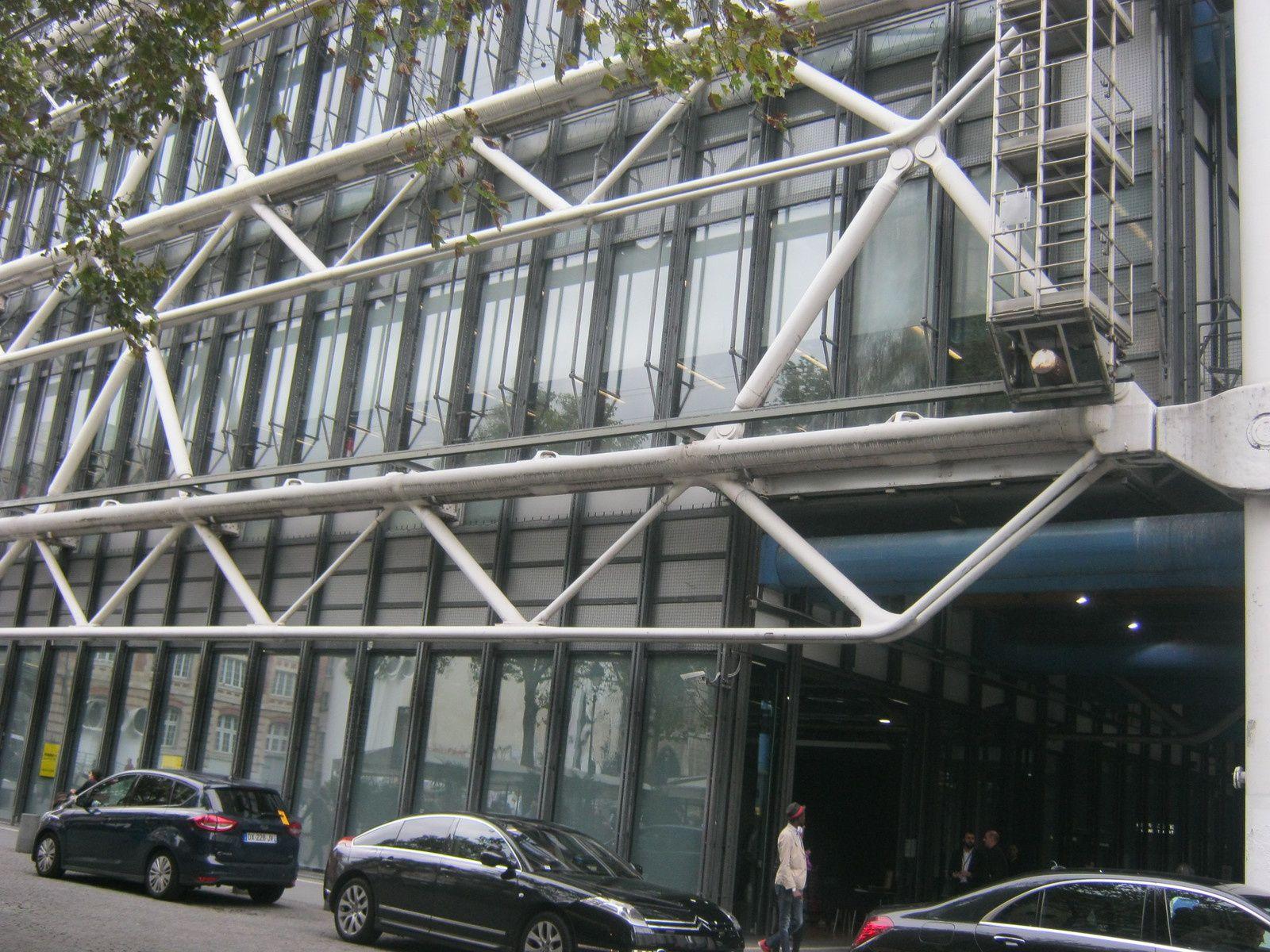 nous arrivons à Beaubourg Centre Georges Pompidou