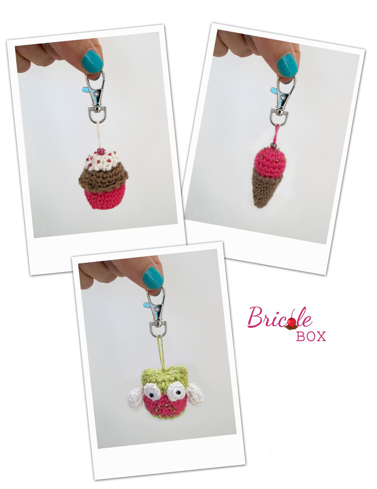 Créa # 4 Bricole Box &quot&#x3B;The One&quot&#x3B;: Tuto porte-clefs chez La chouette !