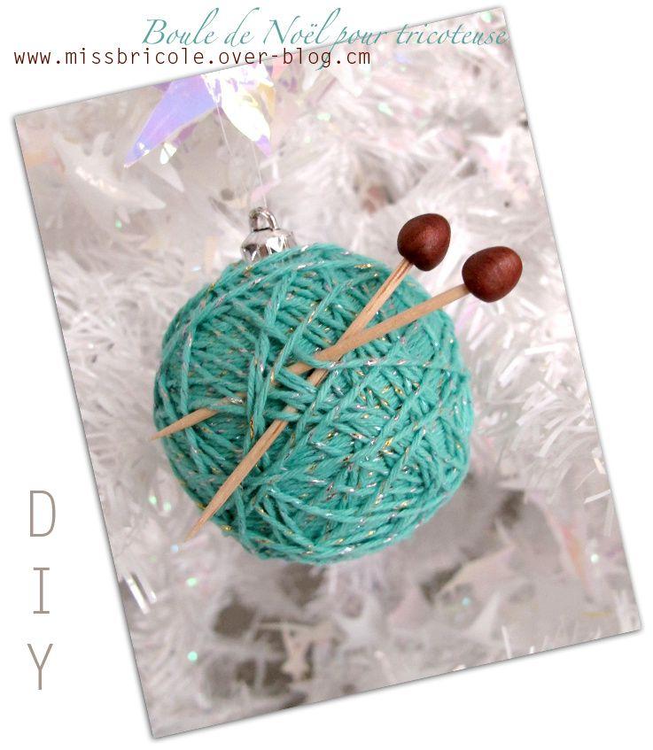 DIY: Une boule de Noël pour tricoteuse