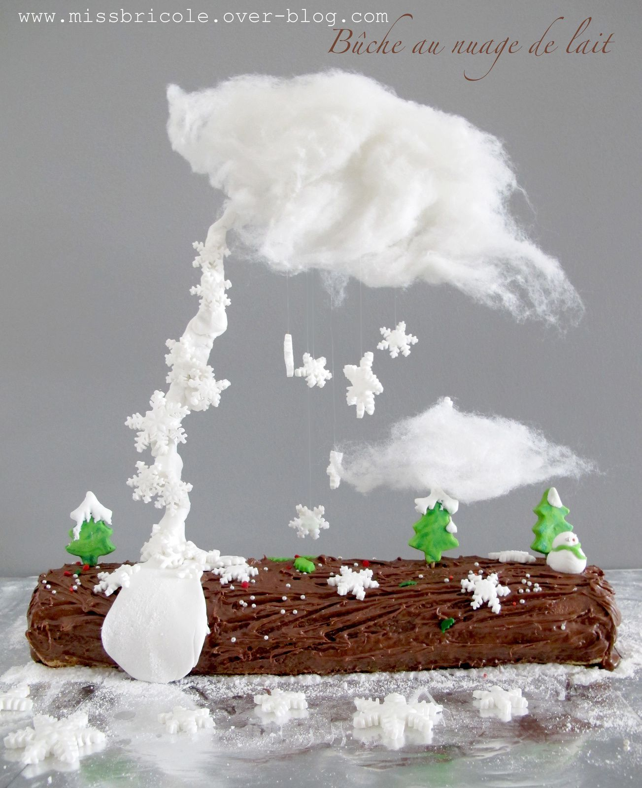 Gravity Cake: La bûche et son nuage de lait !