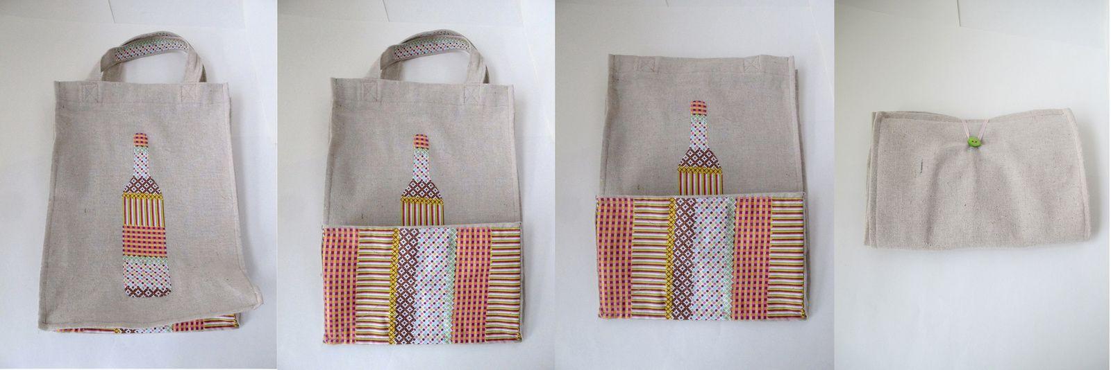 Créa # 1 Bricole Box &quot&#x3B;L'apéro&quot&#x3B;: Un sac à bouteilles