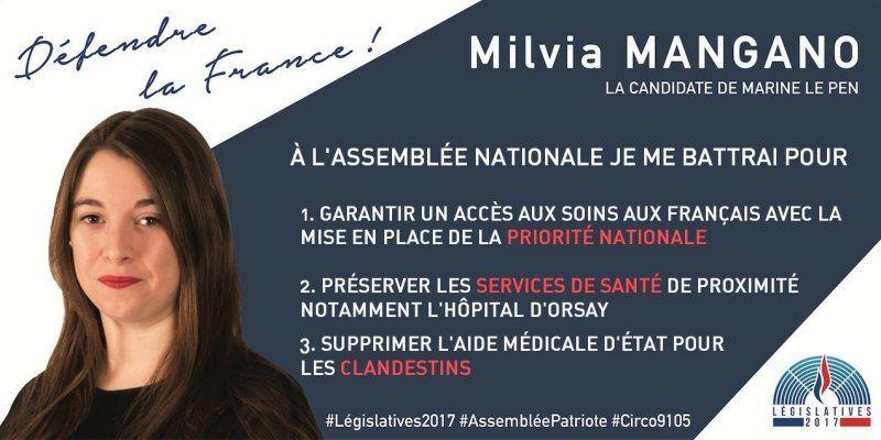 Législatives 2017 - 03 - Milvia Magano (Front National)