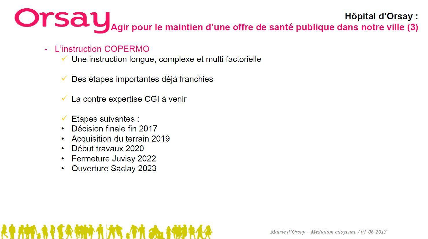 Le projet du nouvel hôpital d'Orsay présenté  aux professionnels de santé