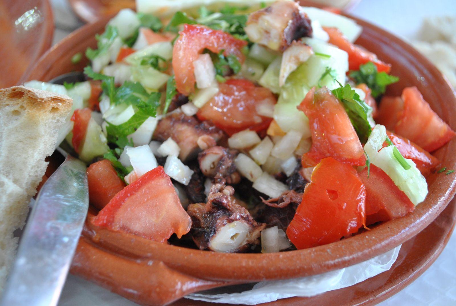 Une délicieuse salade de poulpe pour moi