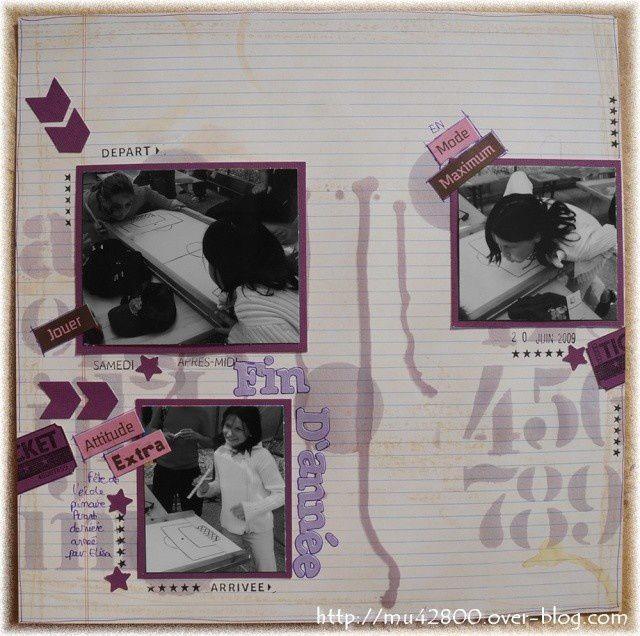 [ page  ] Fin d'année - étape  7 le violet