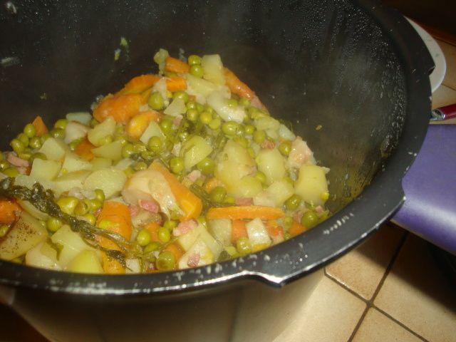 Recette : Jardinière de légumes nouveaux....cookeo usb