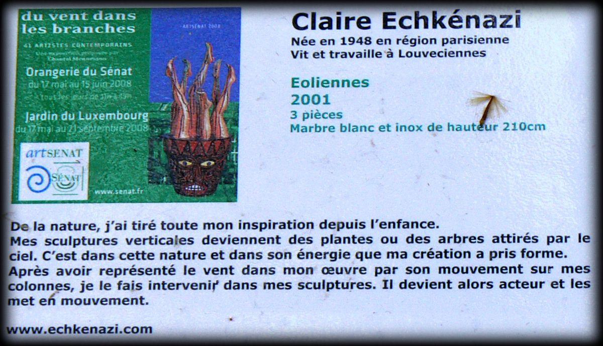 Claire Echkénazi, Eoliennes 2001