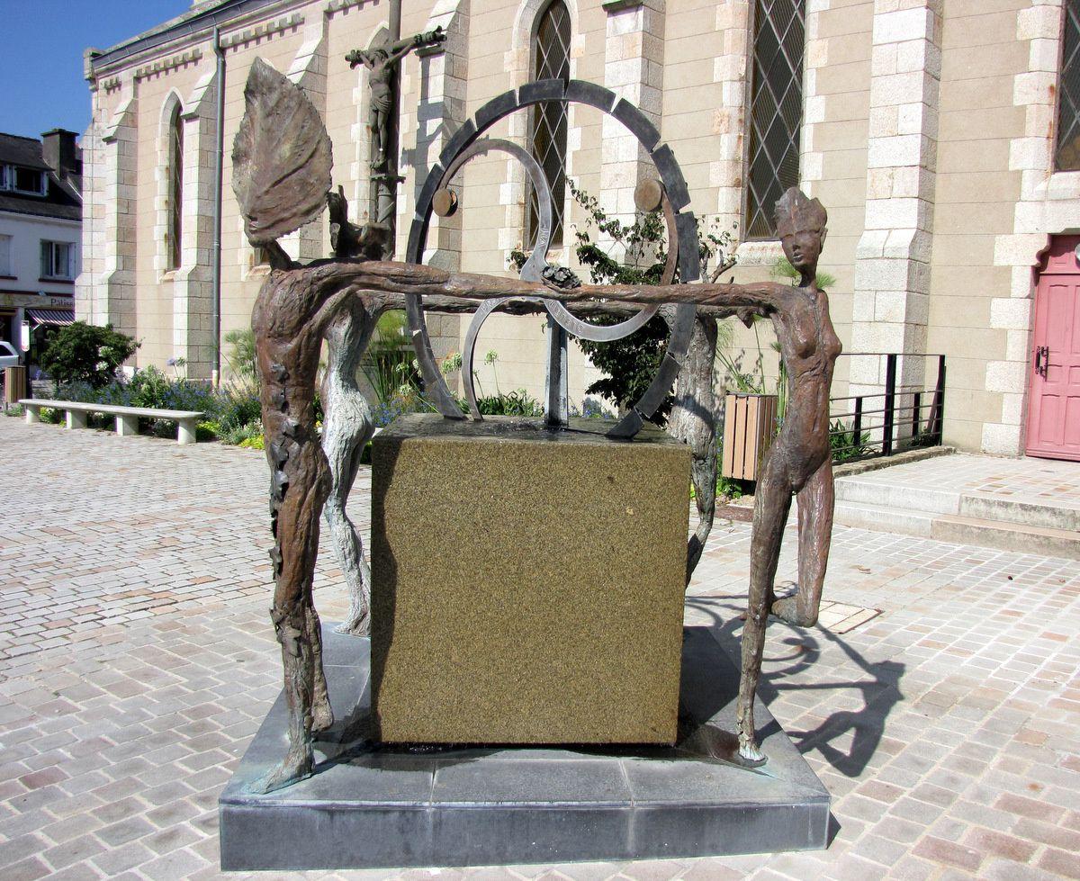 Fontaine de Languidic par Philippe Gaillard (atelier BB à Guilliers)