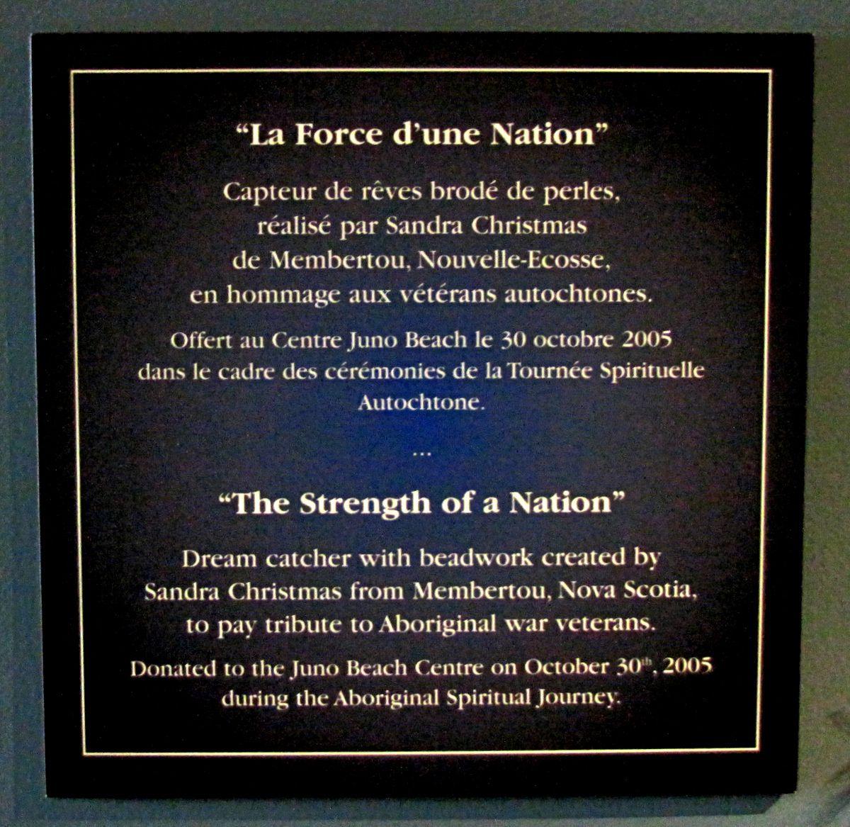 Capteur de rêves 'La Force d'une Nation'