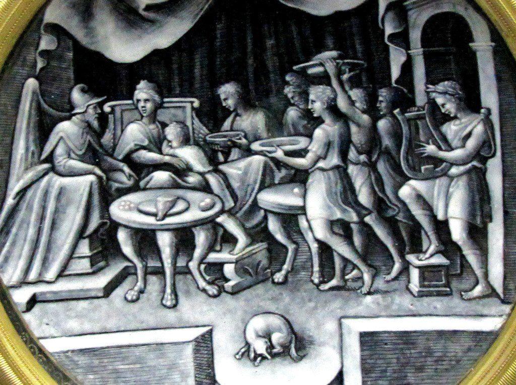 Atelier de Pierre Reymond, Coupe : Le festin de Didon et Enée